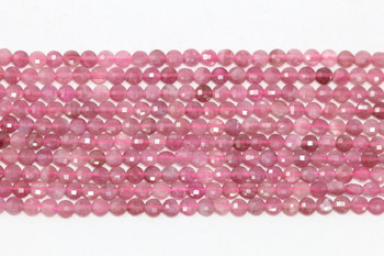 Pink Tourmaline Polished 3.5mm Faceted Coin