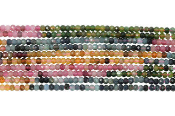 Tourmaline Multi Color Polished 2.5-3mm Faceted Round