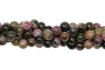 Tourmaline Multi Color Polished 7mm Round