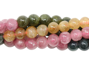 Tourmaline Multi Color Polished 4mm Round