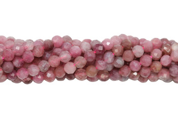 Pink Tourmaline Polished 3.5mm Faceted Round