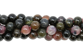 Tourmaline Multi Color Polished 8mm Round