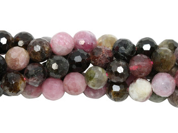 Tourmaline Multi Color Polished 6mm Faceted Round