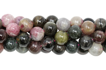 Tourmaline Multi Color Polished 10mm Round