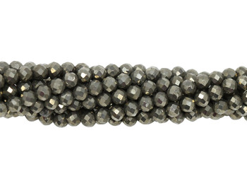 Pyrite Polished 3mm Faceted Round