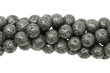 Lava Rock Gunmetal Plated 10mm Round