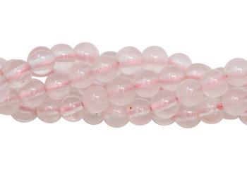 Rose Quartz Polished 4mm Round