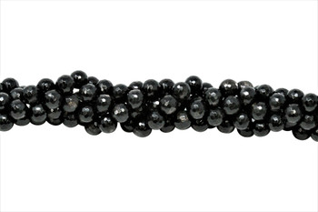 Hypersthene Polished 8mm Faceted Round