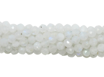 Rainbow Moonstone Polished 3mm Faceted Round