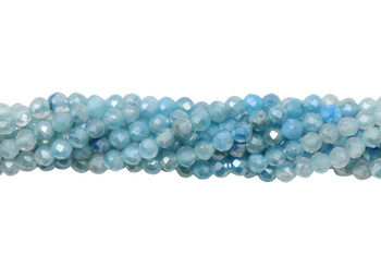 Moonstone Ombre Metal Polished 2mm Faceted Round