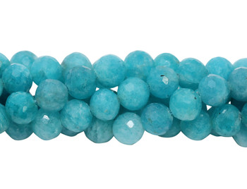 Brazilian Amazonite Polished 7mm Faceted Round