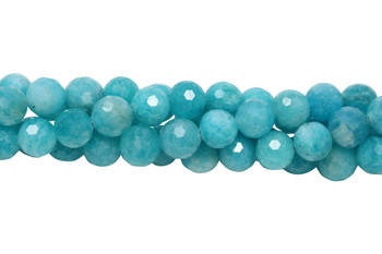 Brazilian Amazonite Polished 9mm Faceted Round