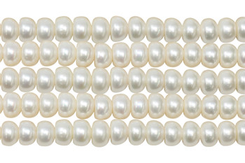 Freshwater Pearls 10mm Button - Large Hole