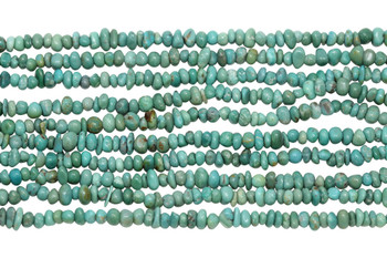 American Turquoise Polished 3-4mm Nugget - Light Green