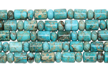Aqua Terra Jasper Polished 10x8mm Barrel and Rondel
