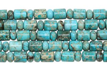 Aqua Terra Jasper Polished 10x8mm Barrel and Rondel