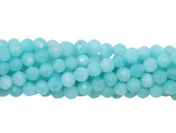Amazonite Polished 2mm Faceted Round