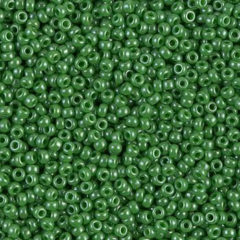 Size 11 Miyuki Seed Beads -- 431 Opaque Jade Green Luster