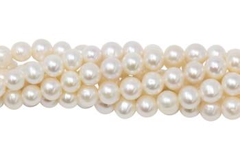 White Freshwater Pearls 7-8mm Semi Round