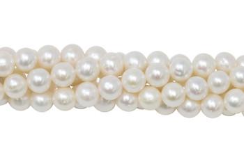White Freshwater Pearls 8-9mm Semi Round