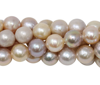 Peach Freshwater Pearls 8mm Semi Round
