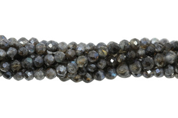 Mystic Labradorite Polished 2.5mm Faceted Round
