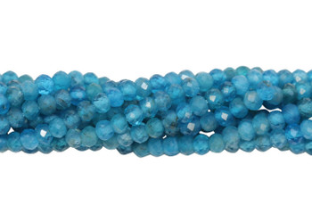 Apatite Polished 2.5mm Faceted Rondel