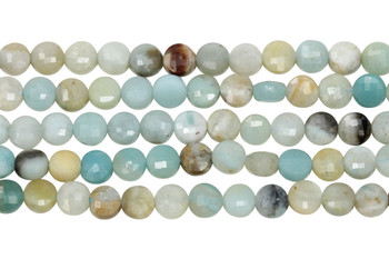 Amazonite Multi Color Polished 6mm Faceted Coin