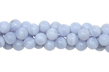 Blue Lace Agate Polished 8mm Round
