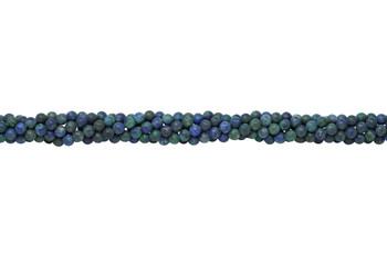Lapis Lazuli (Dyed Azurite Style) Matte 6mm Round