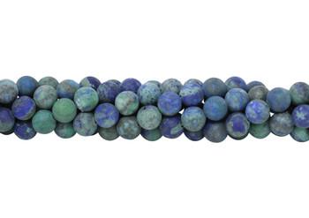Lapis Lazuli (Dyed Azurite Style) Matte 8mm Round