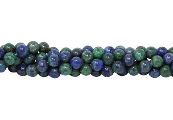 Lapis Lazuli (Dyed Azurite Style) Polished 8mm Round