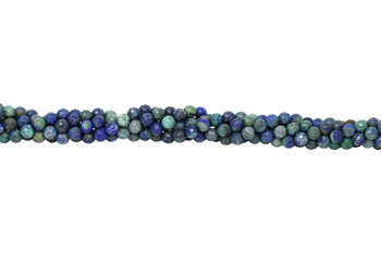 Lapis Lazuli (Dyed Azurite Style) Polished 8mm Faceted Round