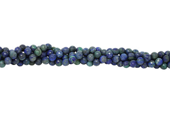 Lapis Lazuli (Dyed Azurite Style) Polished 10mm Faceted Round