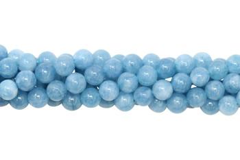 Blue Jade Dyed Polished 6mm Round