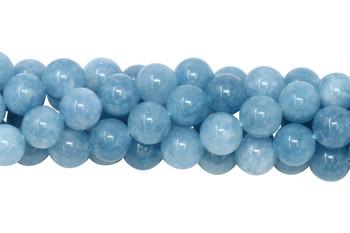 Blue Jade Dyed Polished 10mm Round