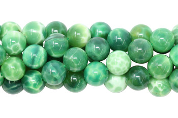 Moss Chalcedony Polished 10mm Round