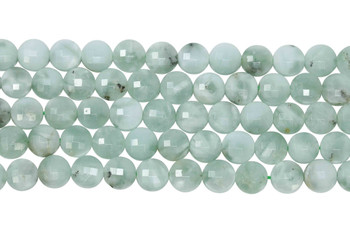 Green Angelite Polished 8mm Faceted Coin