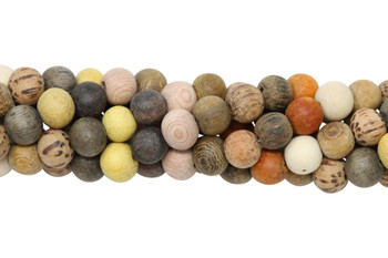 Mixed Wood Matte 8mm Round - For Essential Oils