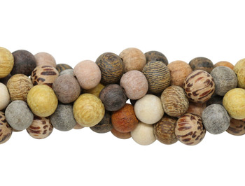 Mixed Wood Matte 6mm Round - For Essential Oils