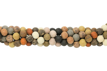 Mixed Wood Matte 10mm Round - For Essential Oils
