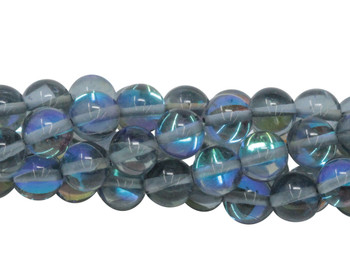Blue Crystal AB Polished 8mm Round
