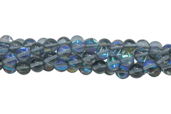 Blue Crystal AB Polished 8mm Round