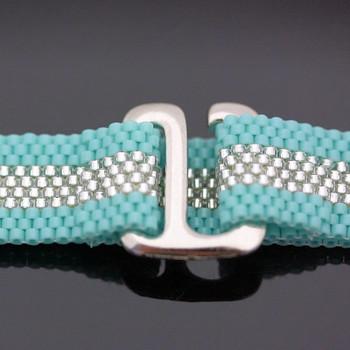 Peyote Stitch Bracelet - Turquoise & Silver