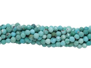 American Turquoise Polished 2.5mm Faceted Round