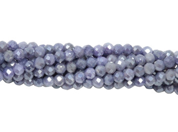 Violet Mystic Moonstone Polished 2mm Faceted Round