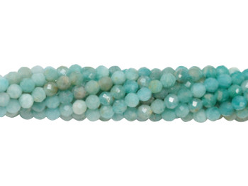 Amazonite Ombre Polished 2mm Faceted Round