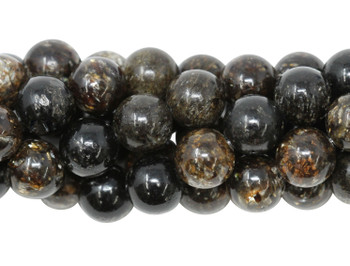 Black Mica Polished 10mm Round
