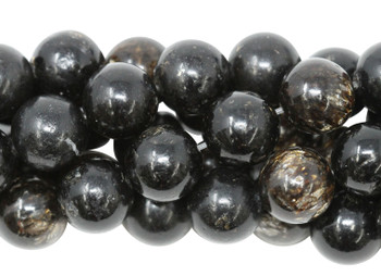 Black Mica Polished 12mm Round