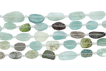 Roman Glass Natural 23-35mm Oval